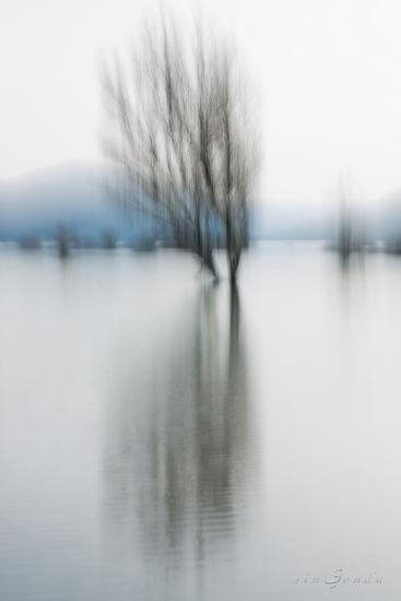 Haiku primordial [Verso blanco, verso negro, verso azul] · ©Juan Romero Agud · sinSenda