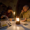 Apagades elèctriques generalitzades durant les ventades de 2009. El País