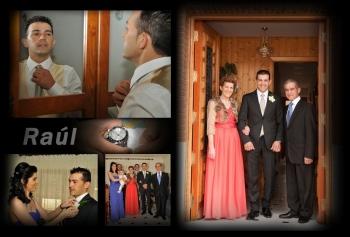 Hoja, (lienzo) del álbum de las fotos en casa de Raúl, en Villanueva del Campo, Zamora