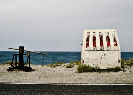 kiosco y el mar
