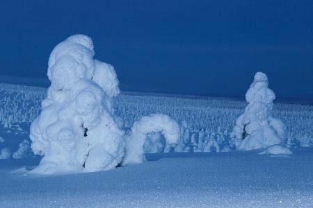 Se acerca la noche, Riisitunturi, Finlandia, Febrero 2013.