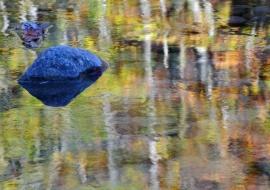 portfolio: illusions     title: a blue rock