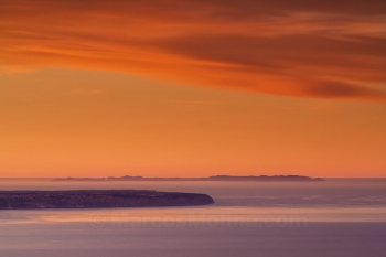 Cap Blanc and Cabrera archipelago al amanecer, Majorca