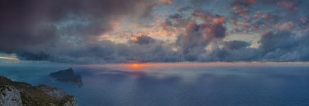 Dragonera island at sunset, Andratx, Majorca