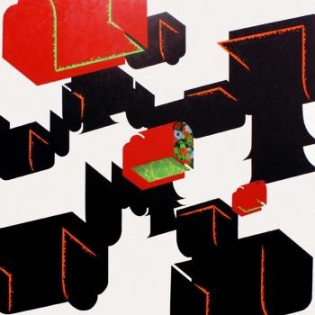 May Kasahara / Acrylic on canvas on wood plate and methacrylate  / 120x120x5 cm