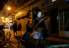cuban girl connected at night by louis alarcon