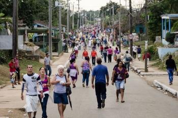 religios parade in Cuba in honour to saint lazarus by louis alarcon