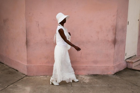 cuban woman dress in white