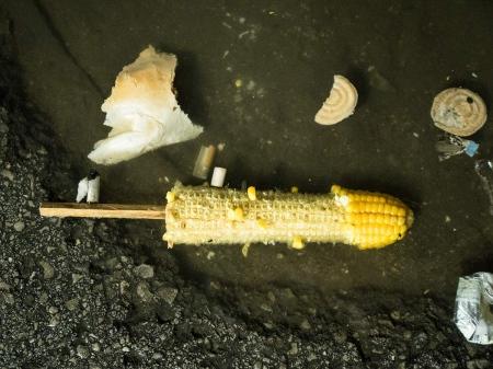 corn on the floor in the havana´s carnivals