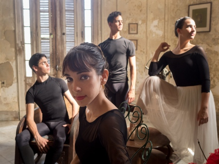 group of ballet dancers in havana
