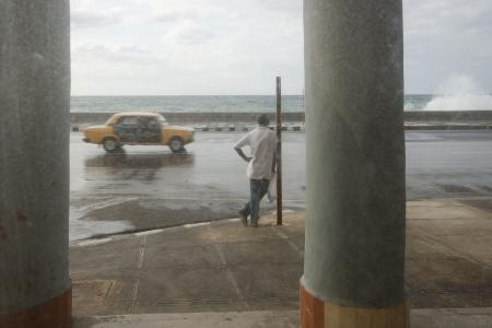 cuban fine art 4 in a sad malecon, cuban workshop