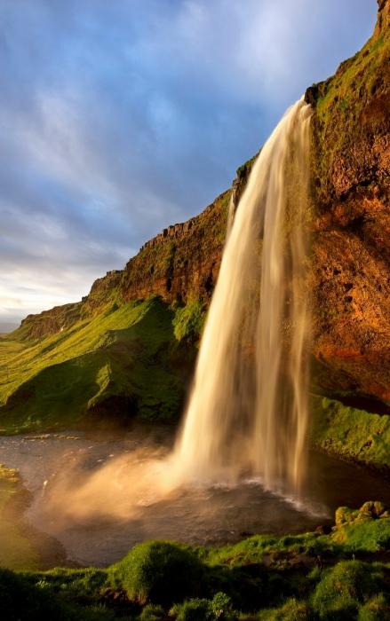 Seljalandsfoss. Islandia