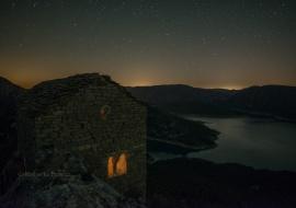 Hermitage and reservoir. Serra del Montsec