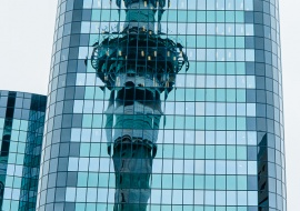 Reflection of Sky Tower, Auckland