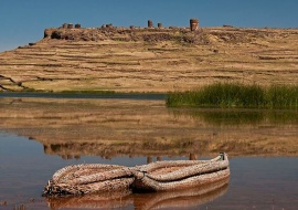 Barcas de totora. Sillustani