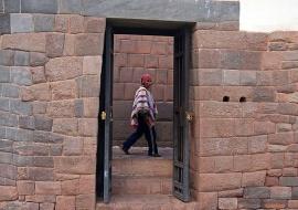 Man of Cusco and Inca wall