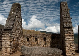 History under the clouds. Machu Pichhu