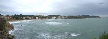 Cala Fosca amb un fort llevant - Palamos - Girona -CATALUNYA