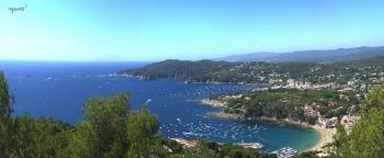 Des de Far de Sant Sebatia vista de LLAFRANC I CALELLA - CATALUNYA