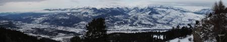 Panoràmica des de la Masella, de la Cerdanya totalment nevada