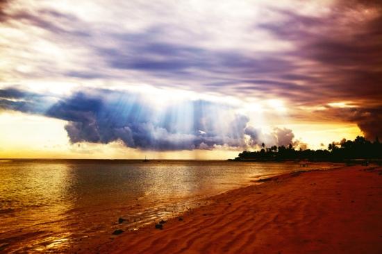 Amanecer playa de Wimby- Pemba