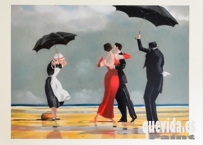 Título: Ya llueve  Técnica: Pastel  Dimensiones: Lámina 65 cm x 48 cm. Enmarcado 90 cm x 74 cm  Precio: