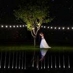 Novios, luces y estrellas. © Booda Fotografía