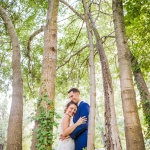 La pareja en el bosque. © Booda Fotografía