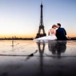 Pareja en París, la ciudad del amor. © Booda Fotografía