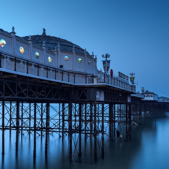 Blue hour in Brighton Pier