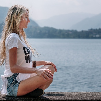 Meditating on the lake