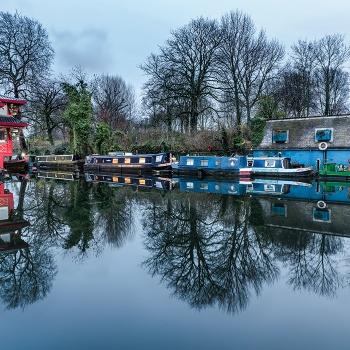 Evening in Regent's Canal (60 x 40cm)