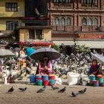 Saleswomen in Bodhnath