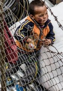 Kid at Lukla Airport
