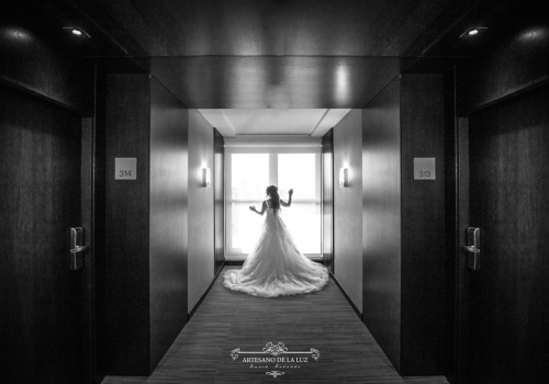 Artesano de la Luz - Fotografia de boda - novia de espaldas