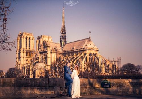 Artesano de la Luz - Postboda en Paris con la catedral de Notre Dame