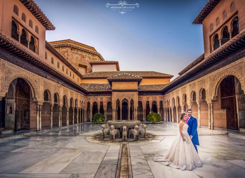 Artesano de la Luz - Postboda en la Alhambra de Granada