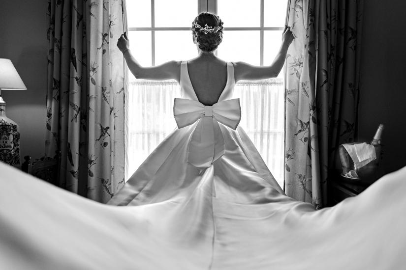 detalle del vestido de novia