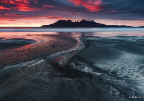 eigg, laig bay, atardecer, playa, beach, esteve garriga, sunset, seascape, naturaleza