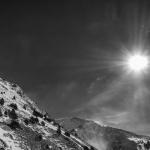 Sol, viento y nieve