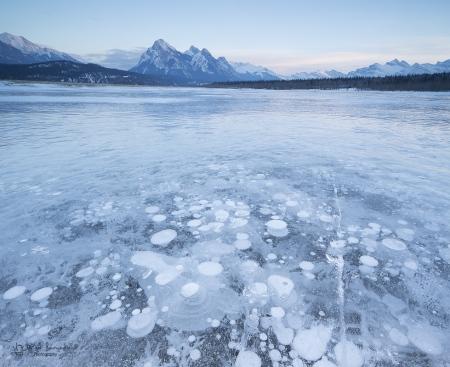 Preachers Point, Abraham Lake, Kootenay Plains, Pano 3 Imagenes Canon TS 24mm