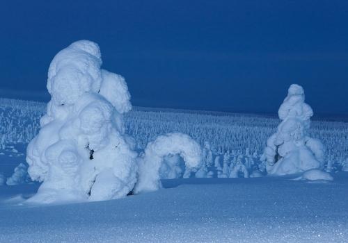 Night is coming, Riisitunturi, Finland, February 2013.