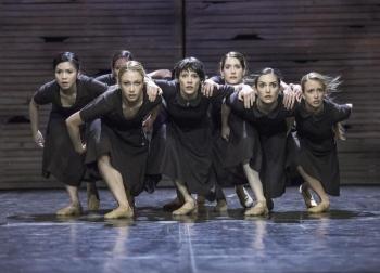 Women Scene. The Burning Village. Innsbruck State Theatre