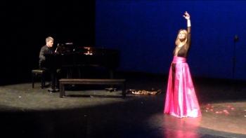 """Escena de """"Amália, esplendor do fado"""", con Albert Nieto y Mayca Teba. Festival TALENT Madrid. Teatros del Canal, marzo 2014."""