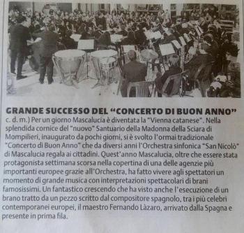 Prensa siciliana del 5 de enero 2016 (mi nombre en las lineas finales).
