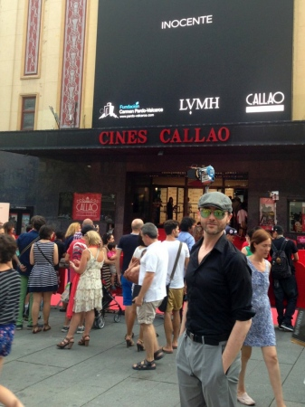 At the premiere of the short film Innocent by the Goya nominated director Alvaro Pastor (Yo, también), in which Fernando composed the soundtrack. Cines Callao in Madrid. July, 2013