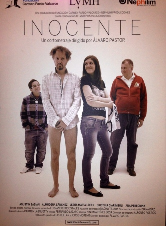 Innocent short film poster by Alvaro Pastor. Down team names. July, 2013