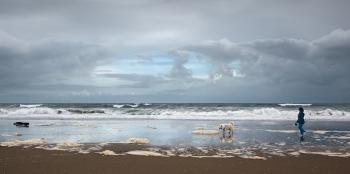 reflejo en playa