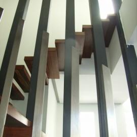Detalle Escalera Vivienda unifamiliar en rambla 06