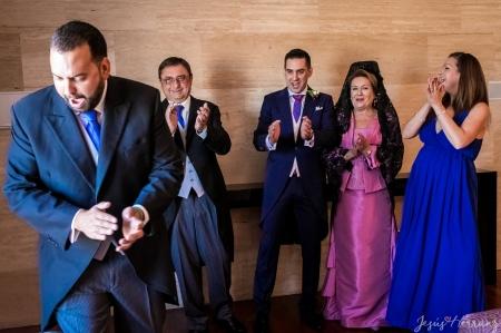 Foto de familia antes de la boda